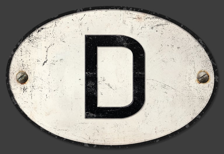 Image of Magnetic German 'D' Badge, Standard 180x120mm