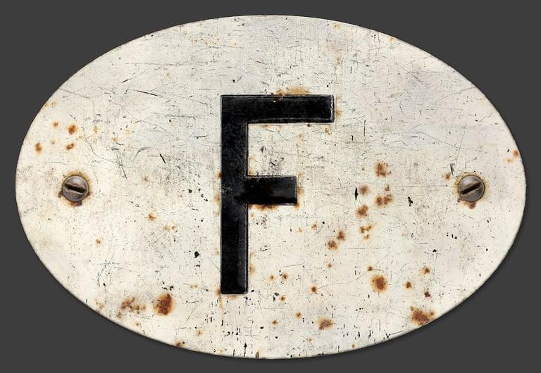 Image of France 'F' Badge, Standard 180x120mm