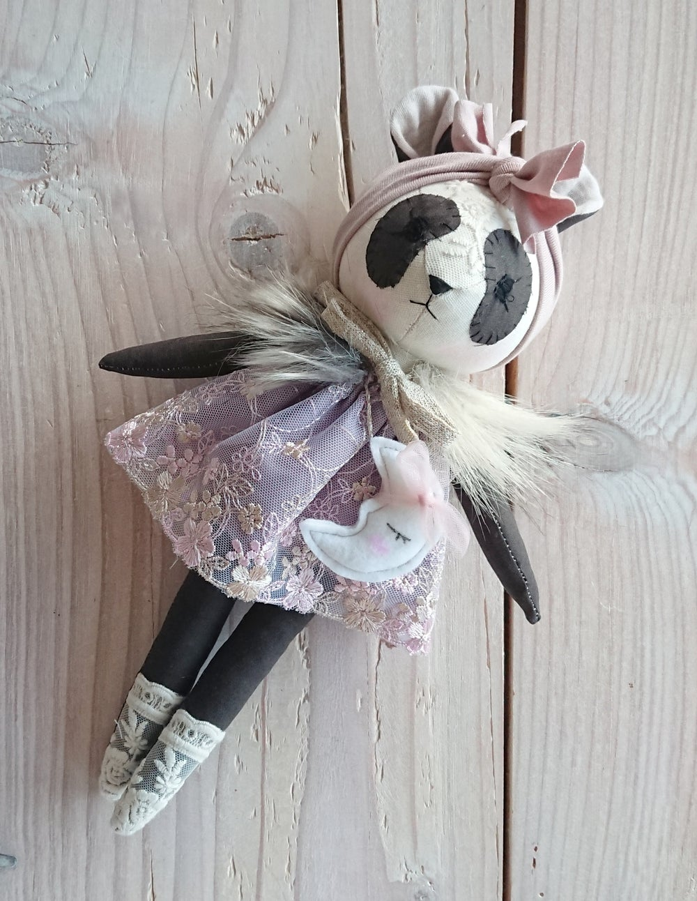 Image of Wonderforest panda doll - Made to order