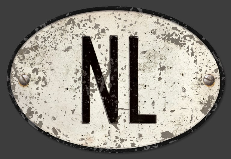 Image of Magnetic Netherlands 'NL' Badge, Standard 180x120mm