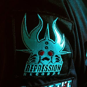 "Image of ""REPRESSION RECORDS"" Embroidered Patch"