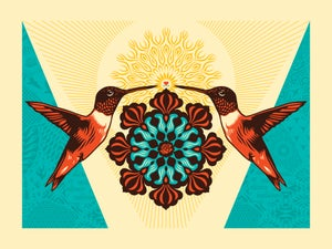 Image of Flowering Dignity Colibri Letterpress Print