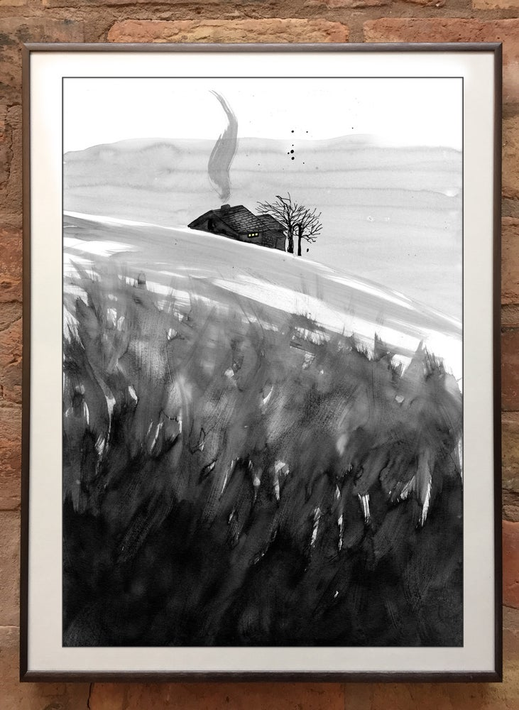 Image of 'Wuthering Heights' Print / Top Withens / A3