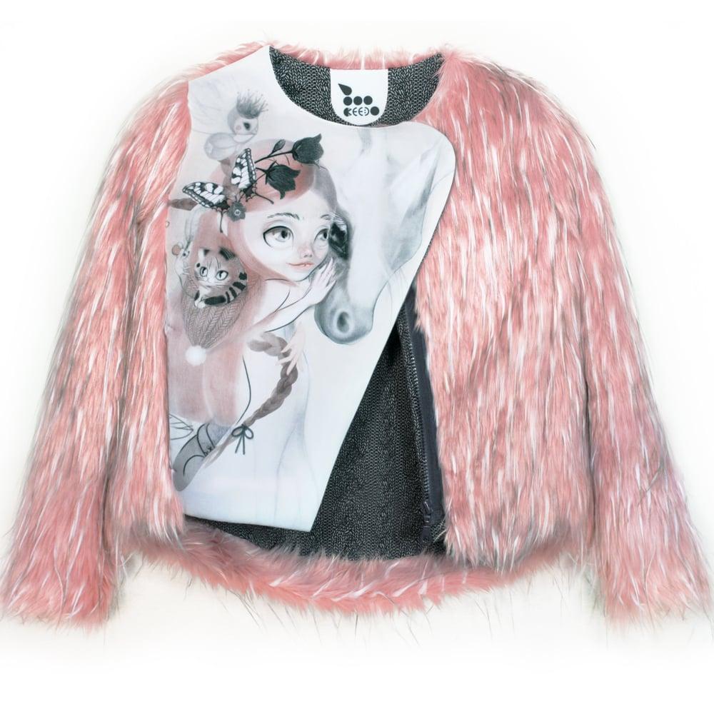 Image of 'unicornLove' faux fur + neopren jacket