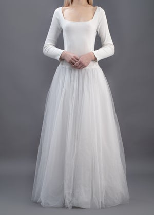 Image of Sophie Tulle Long Dress White