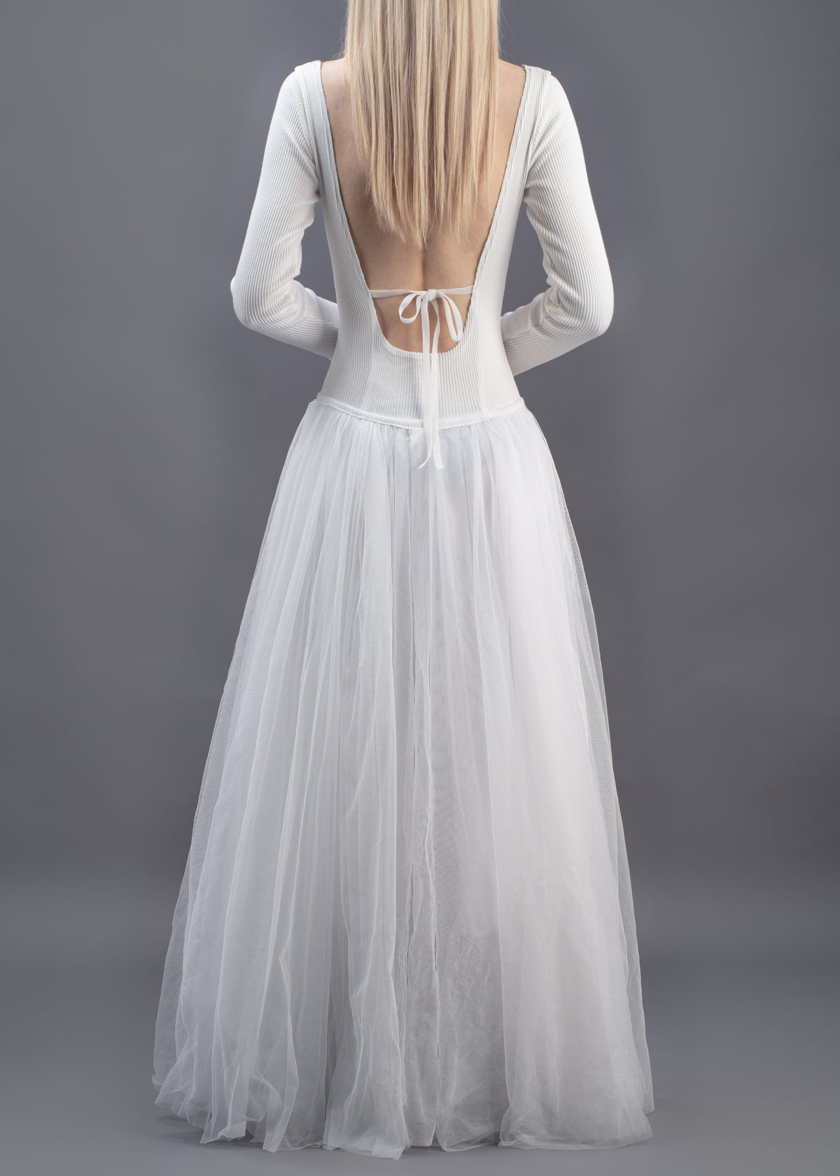 Image of Sophie Tulle Long Dress - White
