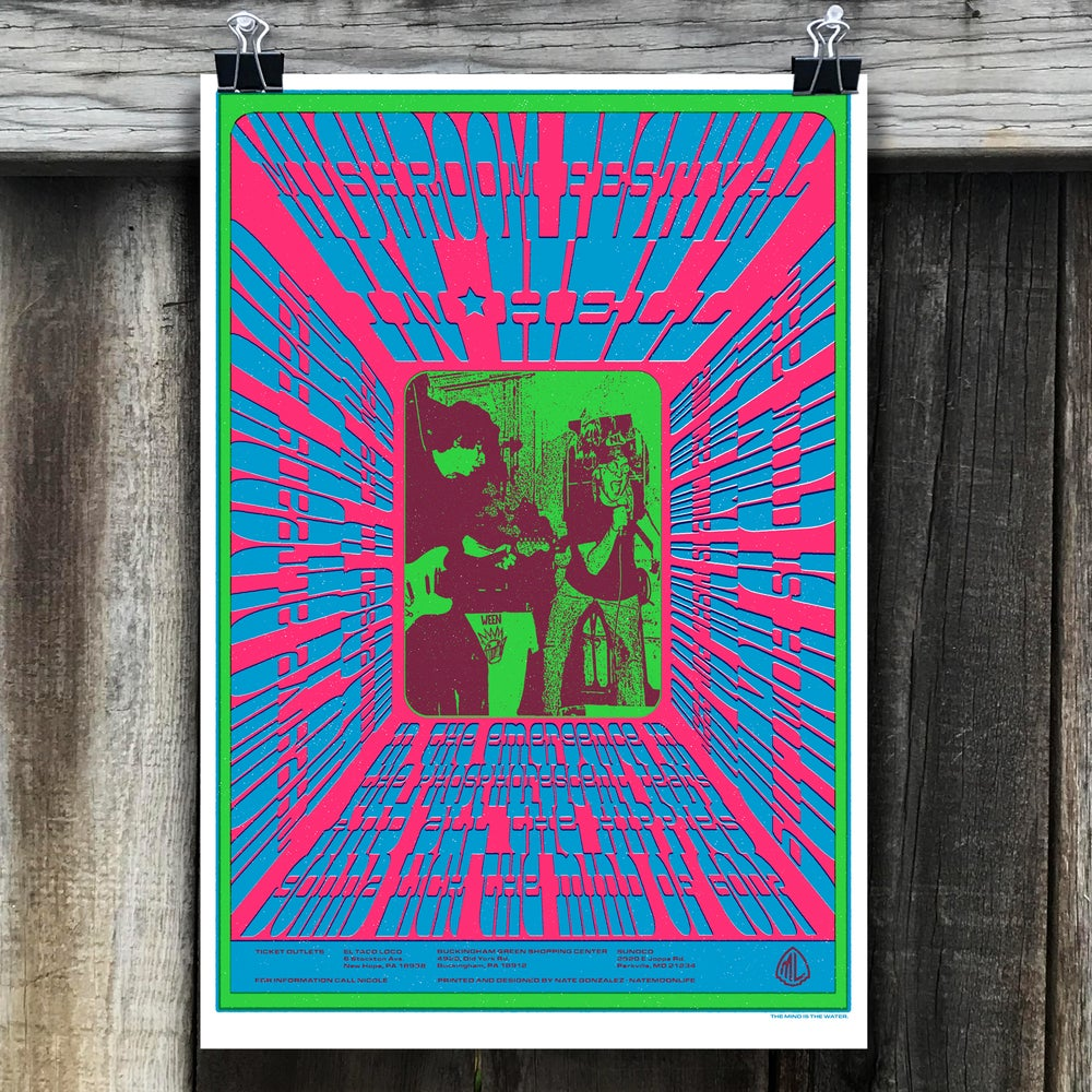 "Image of ""Mushroom Festival in Hell"" • 13""x19"" Screen Printed Poster"
