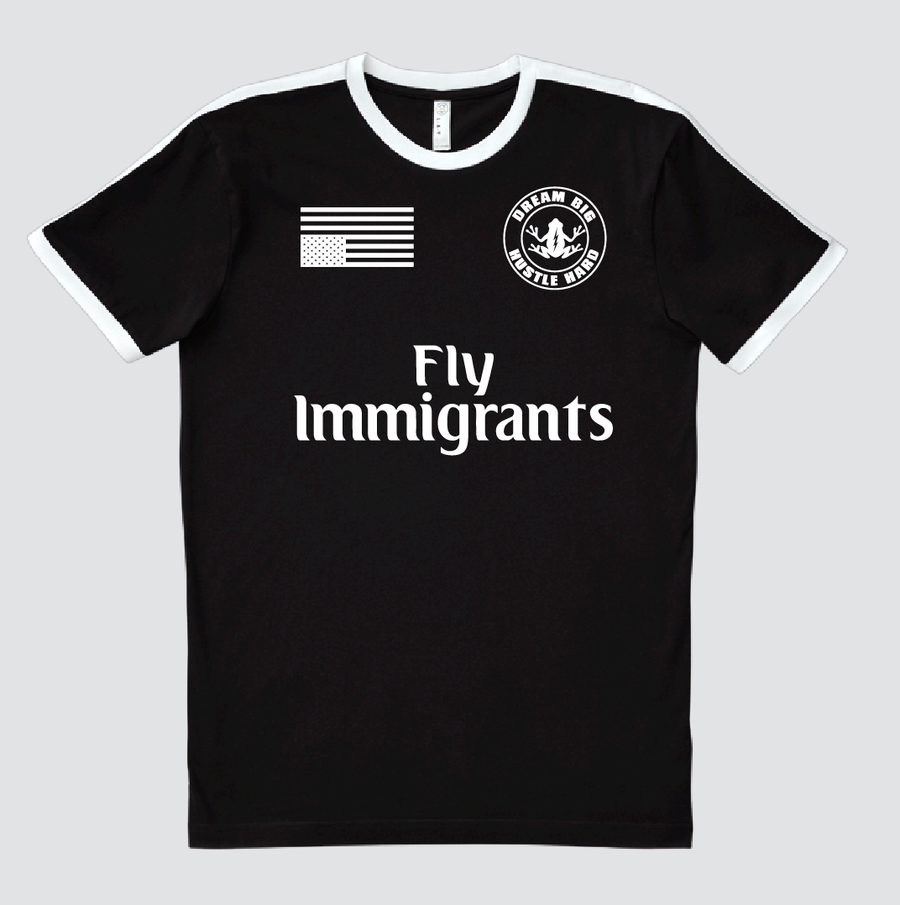 Image of Fly Immigrants Soccer Ringer