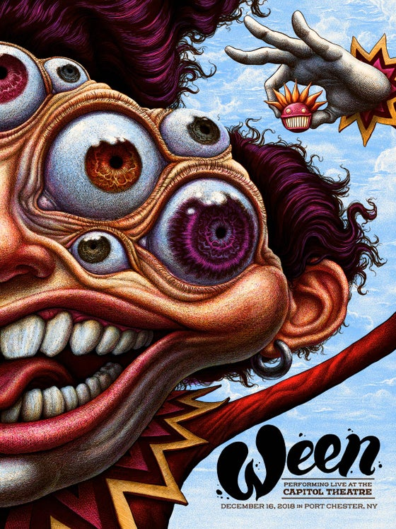 Image of Hand Embellished Ween Dec 16 Capitol Theatre AP Posters
