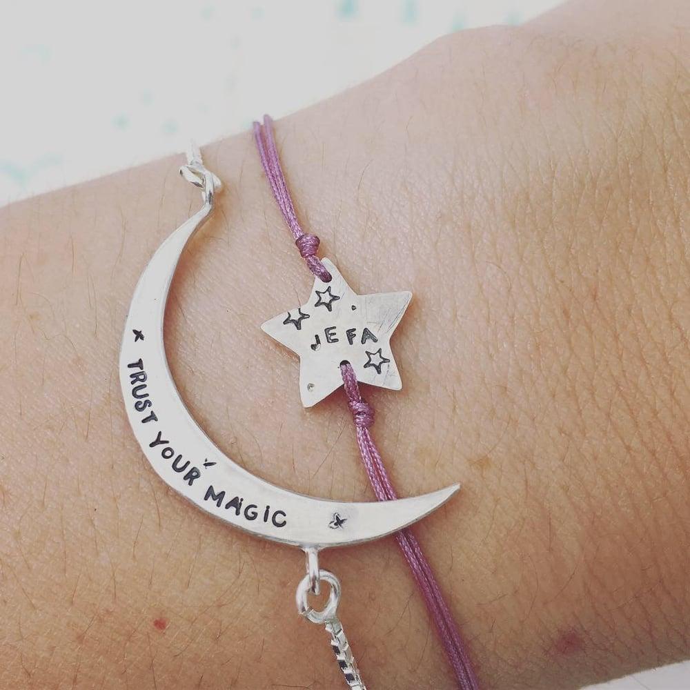 Image of crescent luna bracelet