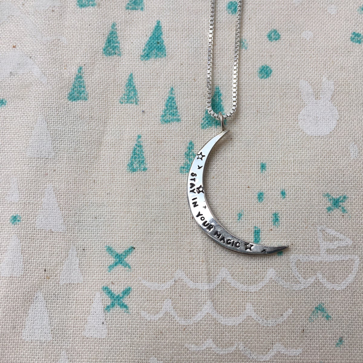 Image of crescent Luna necklace