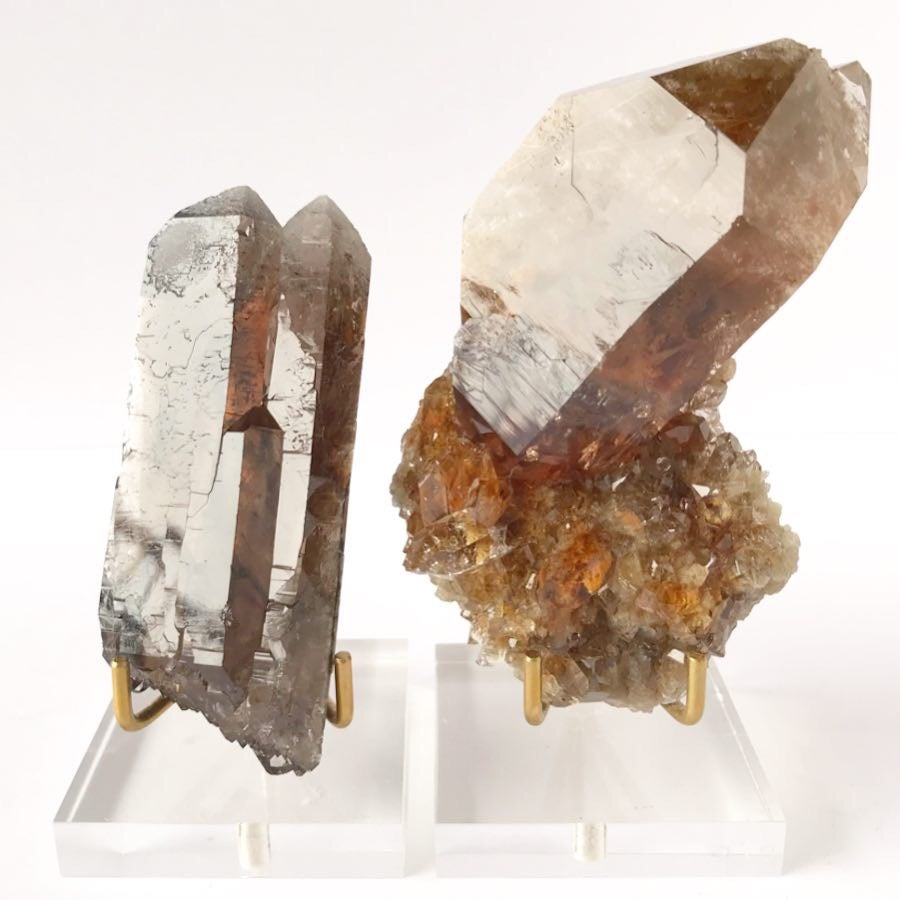 Image of Lodolite Quartz no.01 QC Collection Lucite Pairing
