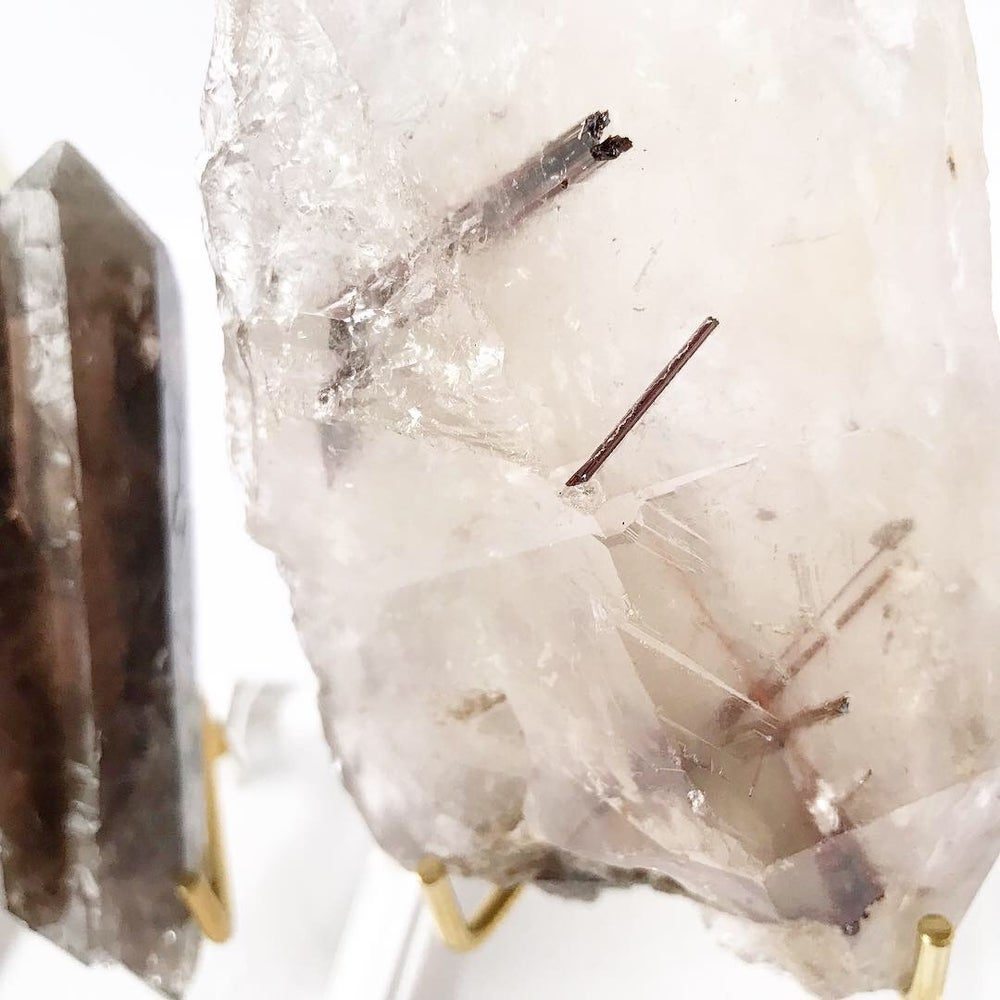 Image of Rutile Quartz no.02 QC Collection Lucite Pairing