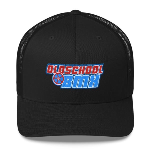 Image of Rad White & Blue Trucker Hat