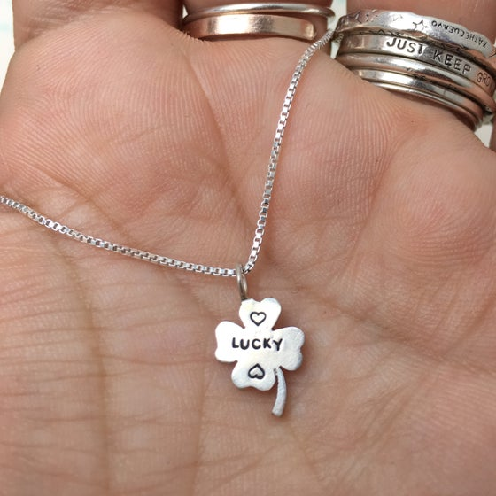 Image of lucky clover necklace