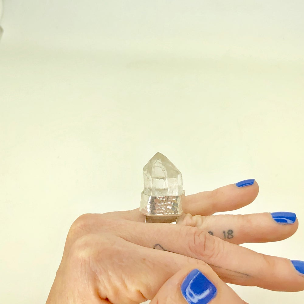 Image of Clear Quartz Crystal Ring