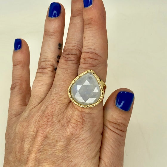 Image of Triple A moonstone ring