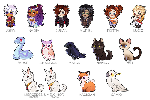 Image of The Arcana - Acrylic Charms