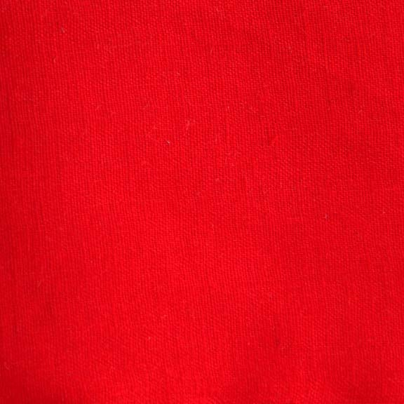 Image of Linen Fabric Square for Crewel Embroidery - Geranium Red