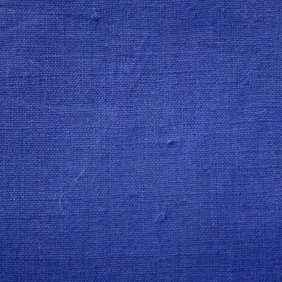 Image of Linen Fabric Square for Crewel Embroidery - Electric Blue