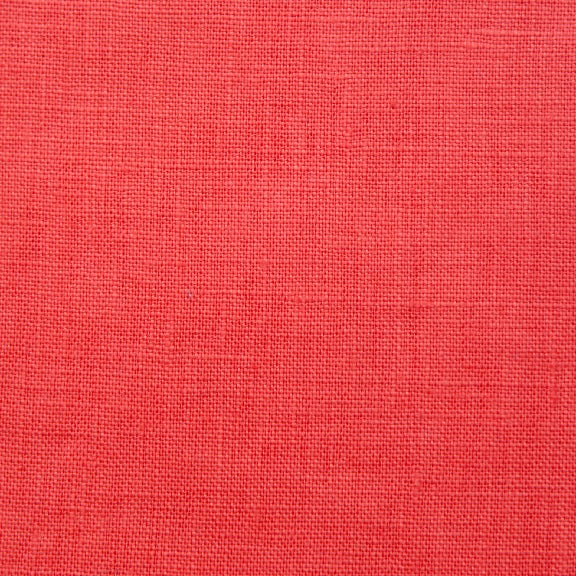 Image of Linen Fabric Square for Crewel Embroidery - Coral