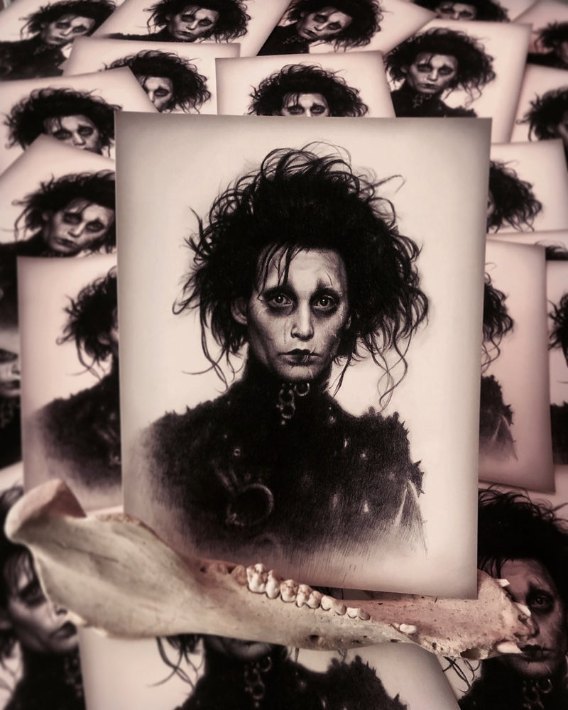 "Image of 'EDWARD SCISSORHANDS' - 9 x 7"" - Miniature Open Edition Museum Archival Print"