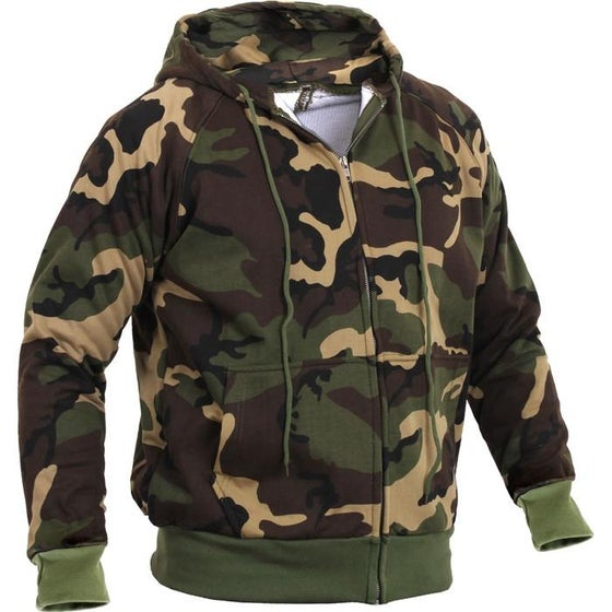 Image of Camo Zipper Fleece