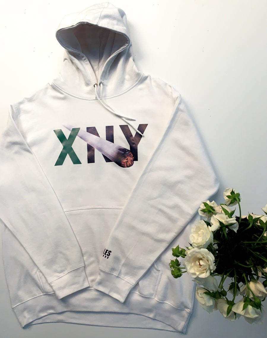 "Image of ""SPLIFF"" Hoody (WHITE/GREEN)"