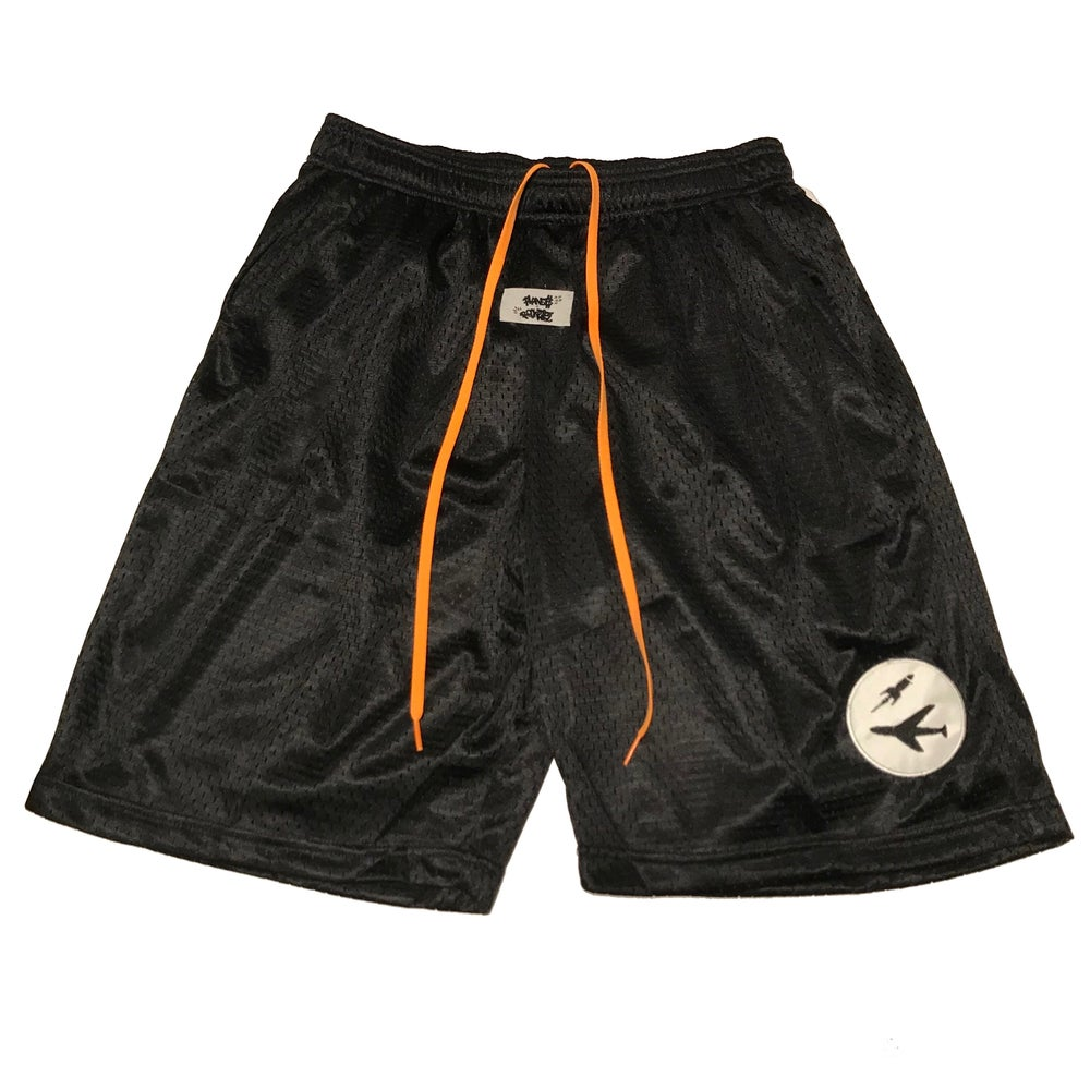 Image of Badge Logo Basketball Shorts in Black