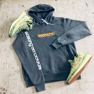 "Image of BOOSTED LONG ""YEEZY SEMI-FROZEN"" EMBROIDERY HOODY"