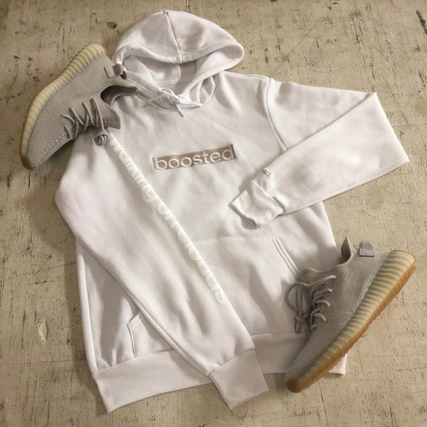 "Image of BOOSTED LONG ""SESAME"" EMBROIDERY HOODY"
