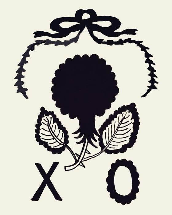 Image of Black Flower XO