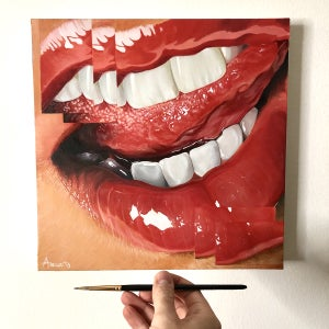 Image of Disassembled Mouth - Original Artwork