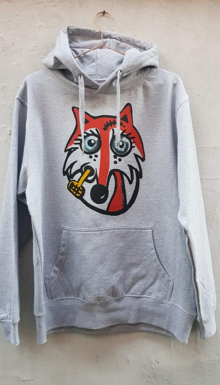 Image of Muggen ræv hoodie grå