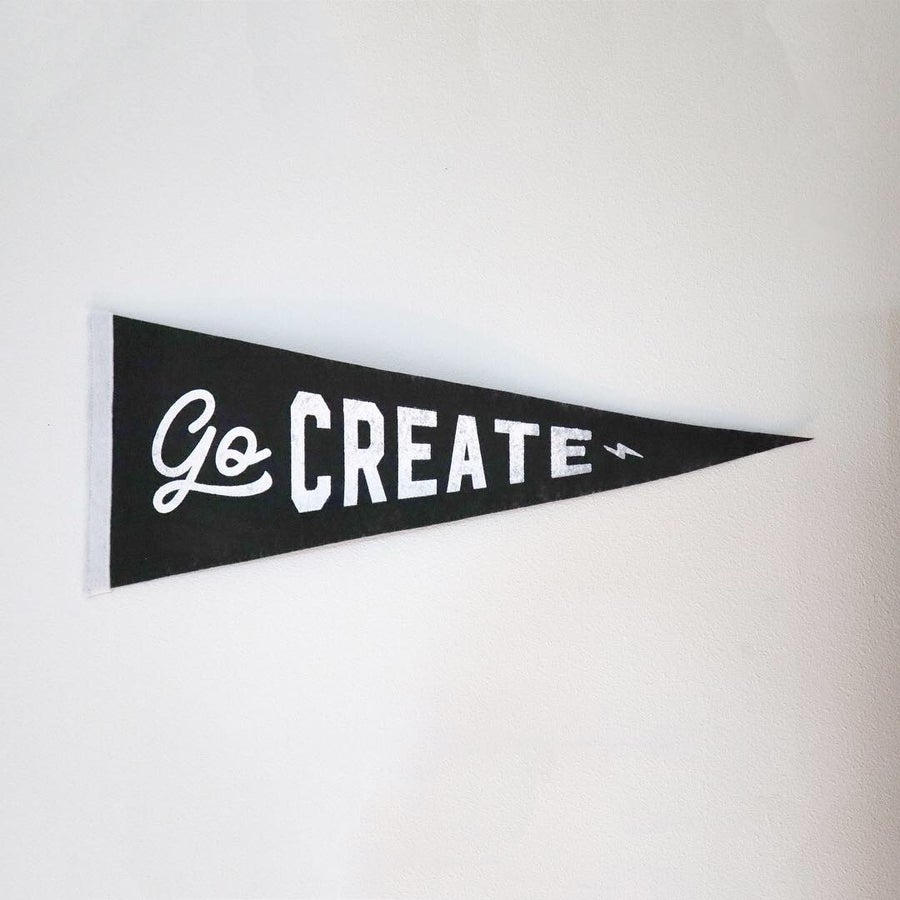 Image of Go Create Pennant - Free Gift (When you spend +$50)