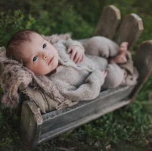 Image of Picket Fence, Bitsy, Woodsy, Newborn Wood Bed Photo Prop, Photography Prop Bed, Wood Bed, Posing Pod