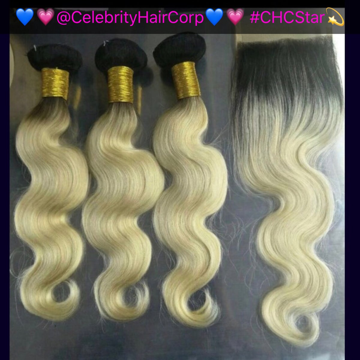 #613 Lace Closure & Frontal w/Dark Root