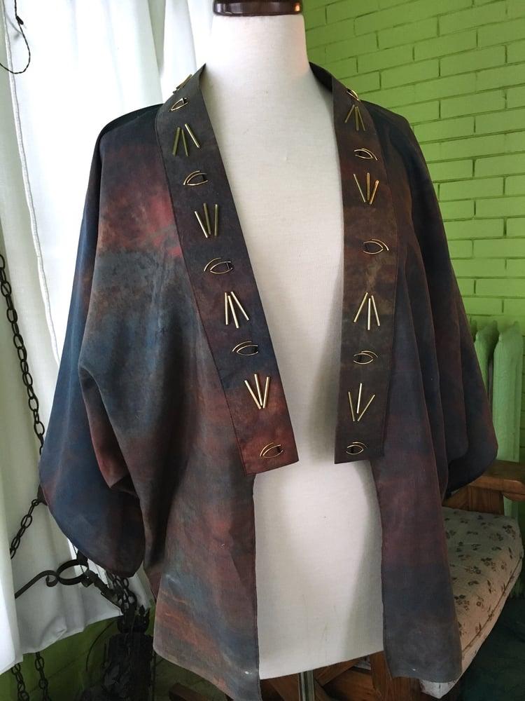 """Image of """"Eyes Open"""" Beaded Kimono Jacket"""