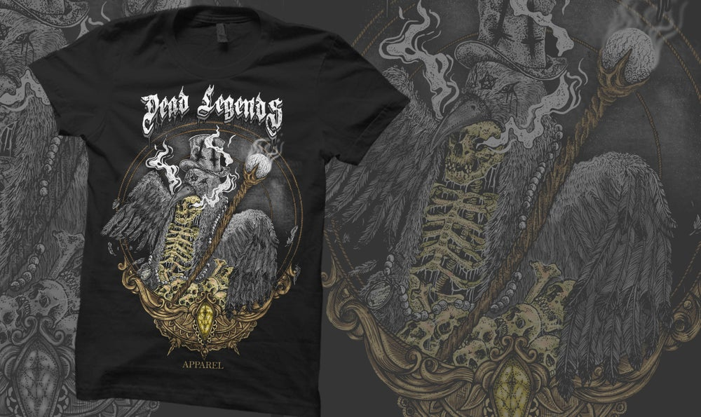 "Image of **New** ""The Plague""  Tee Black"