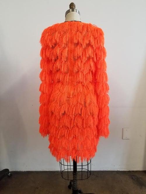 Image of Sweater Style Fringe Sexy Dress