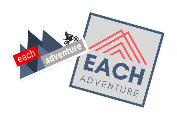 Image of Each Adventure Logo Stickers