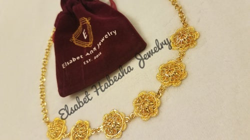 Image of CUSTOM ELILTA NECKLACE/CHOKER - GOLD