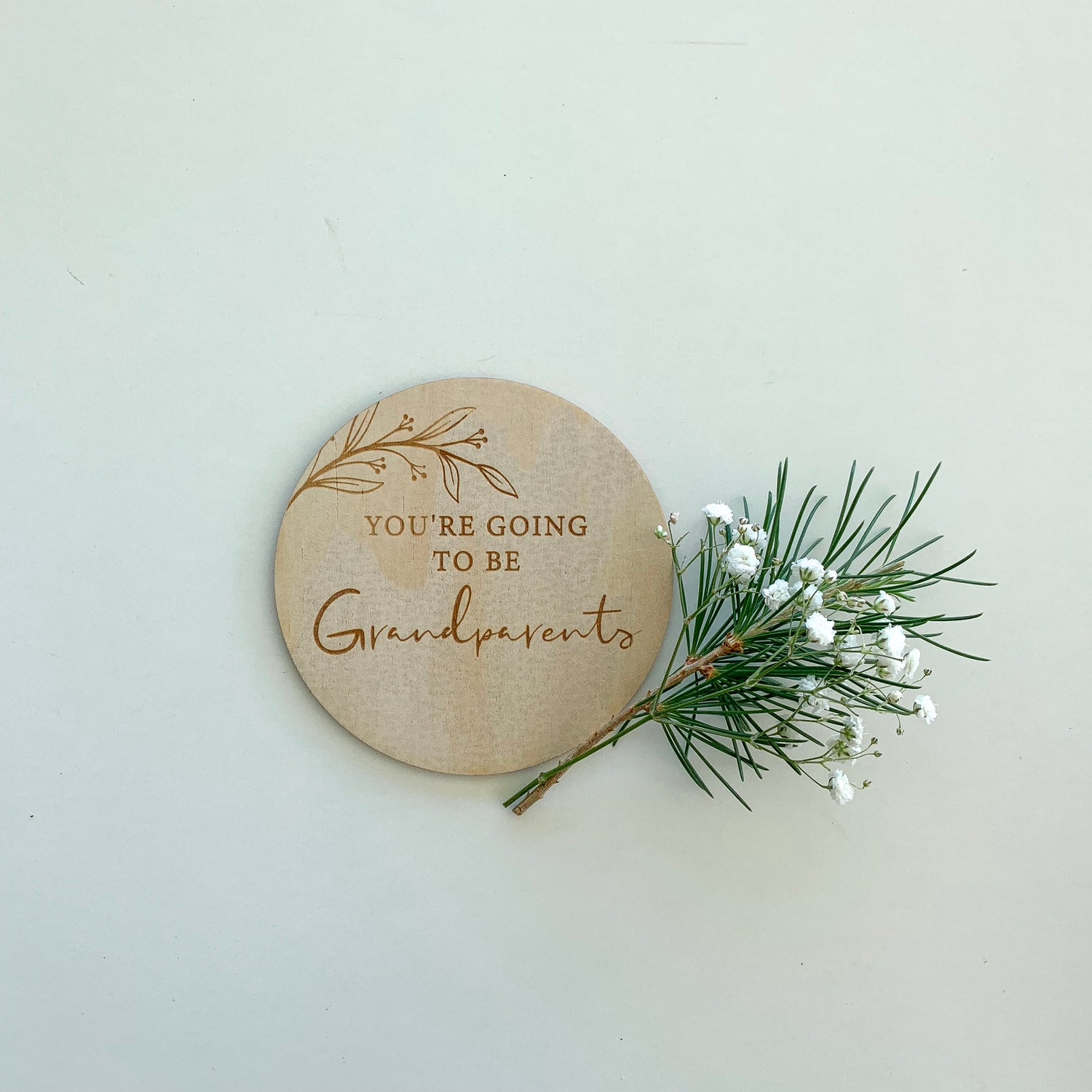 Image of You're going to/ Will you be... | Announcement plaque