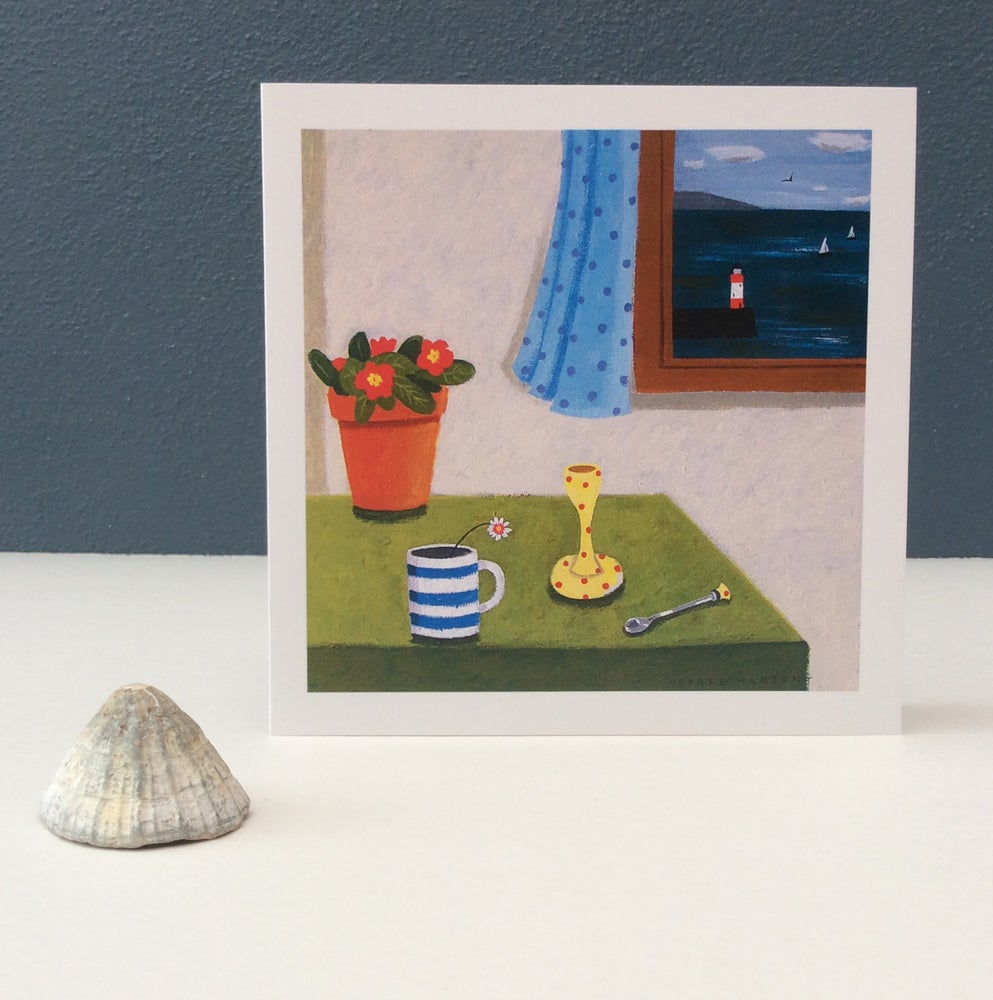 Image of SALE Primrose, Eggcup and Cup card