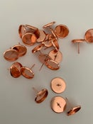 Image of 10 x 12mm rose gold studs and backs