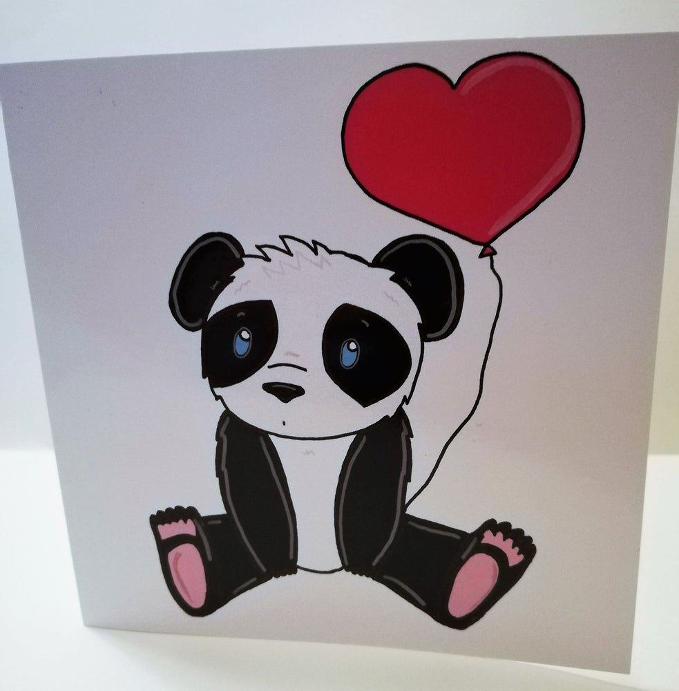 Image of Panda Valentine's card