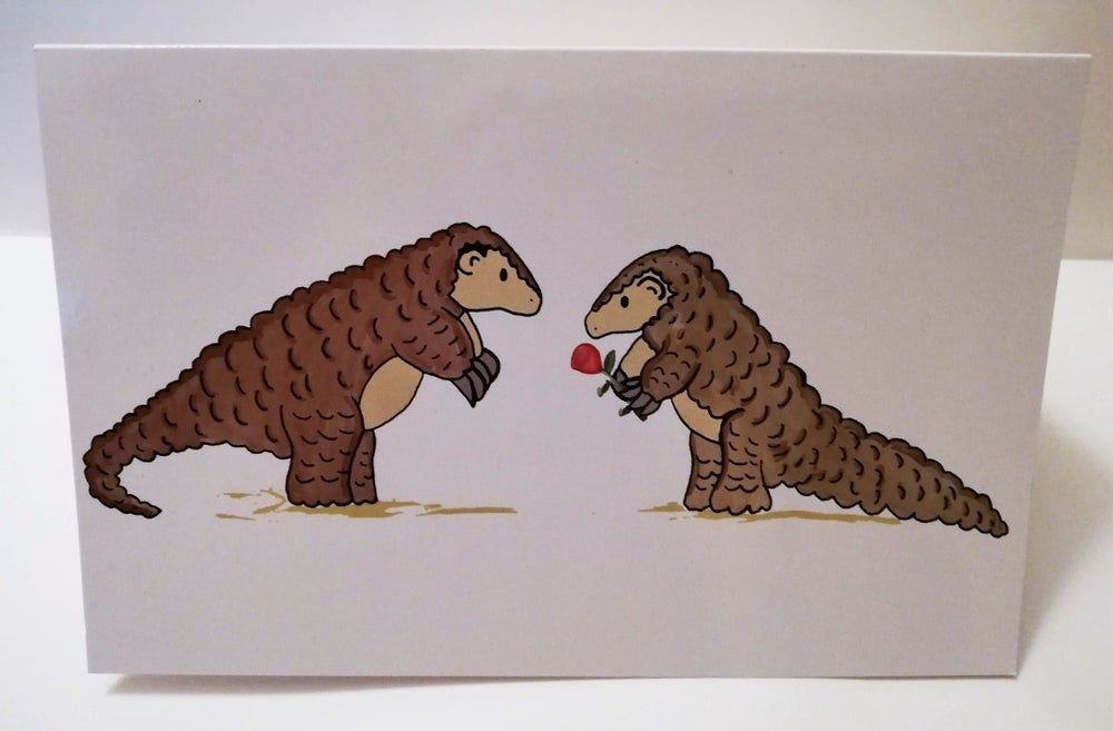 Image of Pangolins Valentine's card