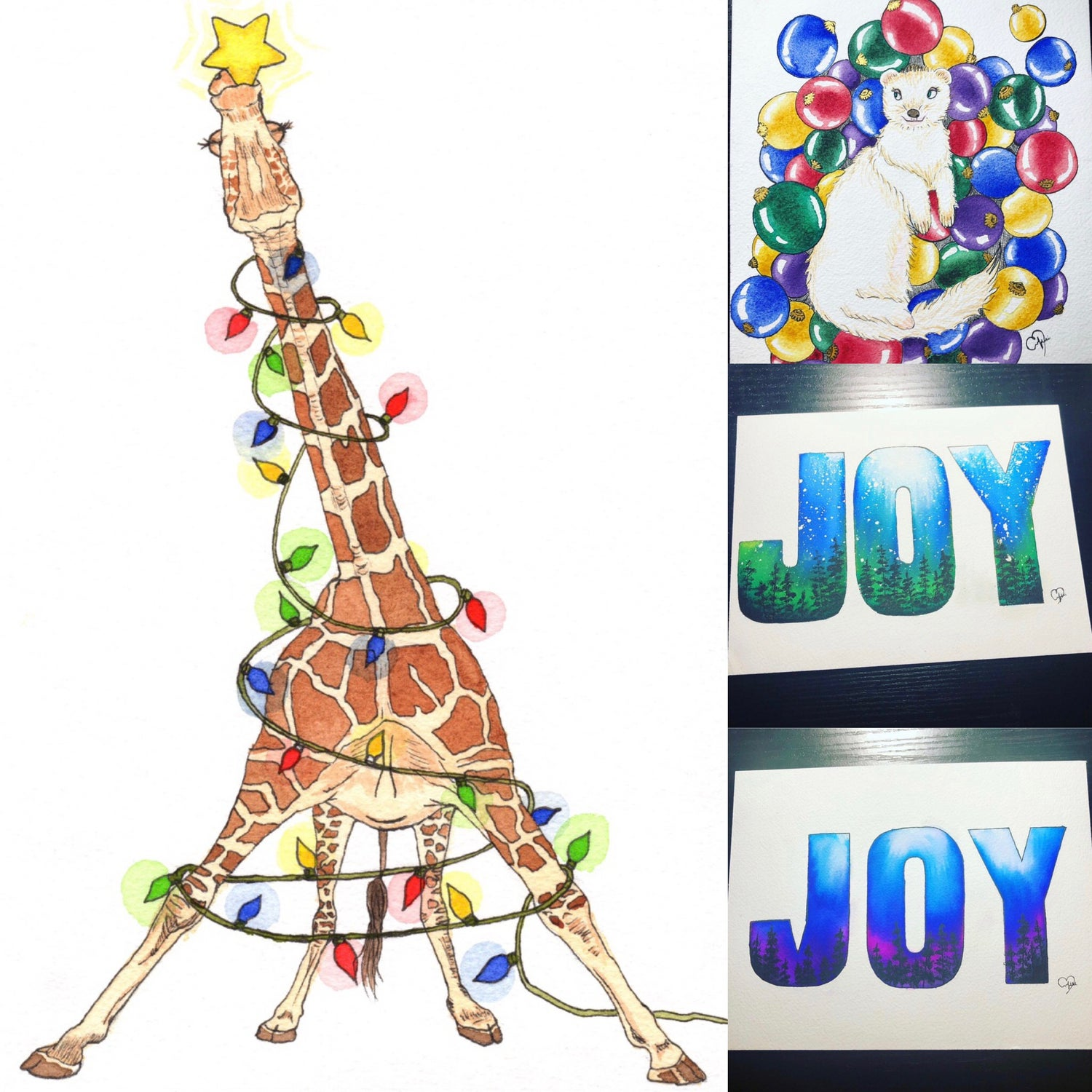 Image of Coming soon! Set of 4 holiday greeting cards!