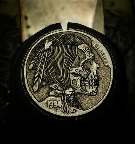 Image of Sugar Skull Buffalo Nickel - Made to Order