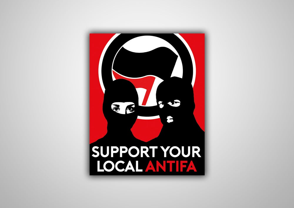 "Image of 100 Autocollants ""SUPPORT YOUR LOCAL ANTIFA"""